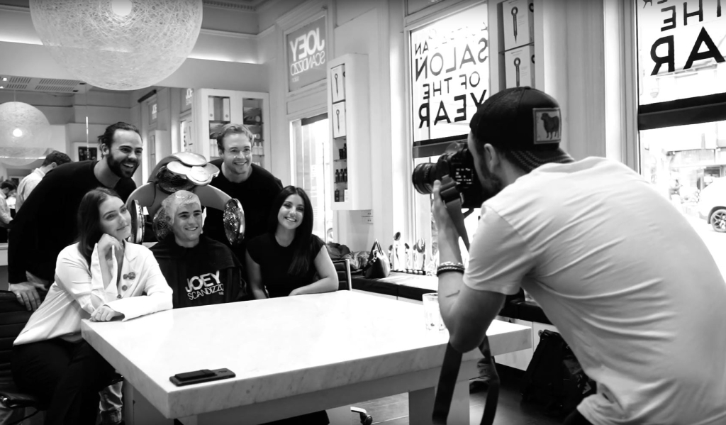 Dylan Torraville Photographing in Joey Scandizzo Salon